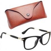Royce Wayfarer, Retro Square, Rectangular Sunglasses(Clear, Black)