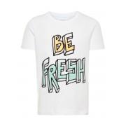 NAME IT Tryckt T-shirt Man White