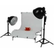 Walimex Studioset Daylight 150/150 Basic + Tafel
