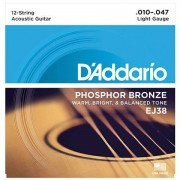 D'Addario EJ38 .010-047 Cuerdas guitarra acúst.