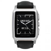 Vector Meridian Smart Watch Regular Fit - луксозен Bluetooth тъч часовник за iOS, Android и Windows смартфони (черна кожена каишка)