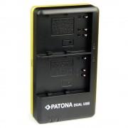 Patona Incarcator Rapid Dual USB pentru Nikon EN-EL3E cu Cablu MicroUSB