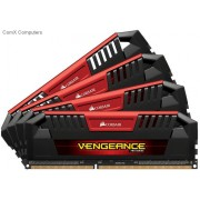 Corsair Vengeance Pro 32Gb(8Gb x 4) DDR3L-1600 CL9 1.35V/ 1.5V Dual voltage Desktop Memory Module with Black PCB+heatsink with Red accent