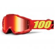 100% Accuri Extra Gafas de Motocross Rojo Amarillo un tamaño
