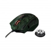 Mouse Gamer Trust GXT 155 Peso Ajustable-Verde Camouflaje