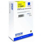 Pachet Cartus cerneala Epson T75644, galben, capacitate 14ml - C13T756440 + Suport magnetic Tellur MCM3 pentru ventilatie, plastic, Negru