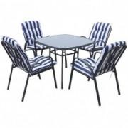 Baštenski set Veneto - sto + 4 stolice sa jastucima 037984