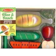 Melissa & Doug Slice & Snack Wooden Play Set