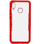 Teleplus Huaweı P20 Lite Back Transparent Silicone Case Red hoesje
