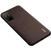 MoFi Litchi PU Leather Case Samsung Galaxy S20 Ultra 5G, barna