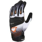 Macna Jugo Motorcycle Gloves Black White Orange 2XL