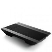 "Охлаждаща поставка за лаптоп DeepCool N8 Ultra, за лаптопи до 17"" (43.18 cm), 4-портов USB хъб, черна"