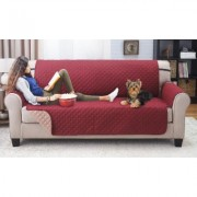 Odash Reversible Furniture Protector for Chair, Recliner, Loveseat, or Sofa Wine/Mocha Love Seat & Sofa Red