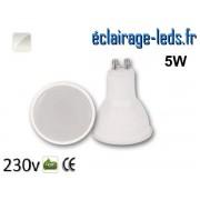 Ampoule LED GU10 translucide 5w blanc naturel 230v