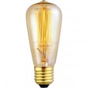 Bec decorativ tubular Edison E27 60W ST64 19AK