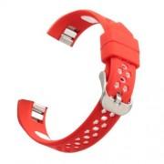 Okosóra szíj - légáteresztő, sportoláshoz, szilikon - PIROS / FEHÉR - Fitbit Alta / Fitbit Alta HR