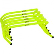 SAS Agility Training Hurdles for Speed Training Set of 6 Durable and Water proof - 6 Inch Agility Hurdles