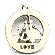 Trunkin Cute Couple In Love Bike Heart Romantic Love Valentine Keychain
