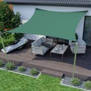 Jarolift Voile d'ombrage carrée, imperméable, vert, 300x300 cm