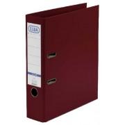 Biblioraft A4, plastifiat PP/PP, margine metalica, 80 mm, ELBA Smart Pro+ - visiniu