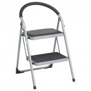 折りたたみ2段ステップチェア W470×D520×H785mm 踏み台 脚立 ステップスツール 折畳椅子 パイプイス オフィス家具