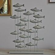 Banc de poissons argenté 54x37x10 cm