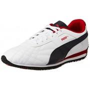 Puma Men's Mexico Idp Puma White, Peacoat and Barbados Cherry Sneakers - 7 UK/India (40.5 EU)