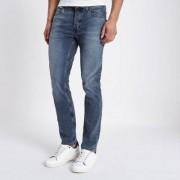 River Island Dylan mid blue wash slim-fit jeans Heren