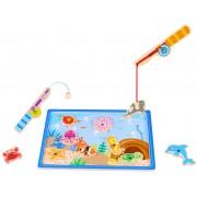 Tooky Toy Fiskespel i trä med magneter