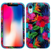 Funda Case Iphone XR Doble protector Uso Rudo Tuff - Hibiscu