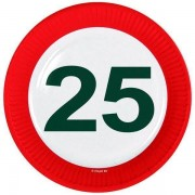 Bordjes 25 jaar verkeersbord