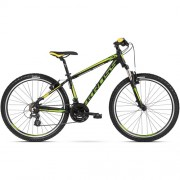 "Bicicleta KROSS Hexagon 2.0 V-brake 27.5"" negru/galben M"
