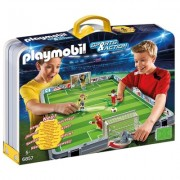 Stadionul mobil de fotbal Soccer Playmobil