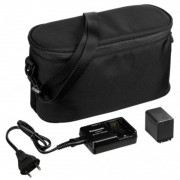 Panasonic Camcorder Starter Kit - Kit incarcator tip VW-BC10 + acumulator tip VW-VBT190 (1940 mAh) + geanta