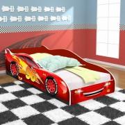 Cama Carro 96 Infantil com Colchão D20 - Vermelho / Vermelho - RPM Móveis
