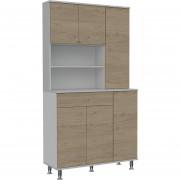 Mueble de Cocina TuHome Kitchen 90 - Blanco/Rovere