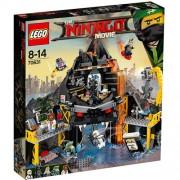 Set de constructie LEGO Ninjago Vizuina lui Garmadon din Vulcan