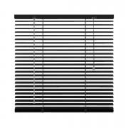 Horizontale jaloezie aluminium 25 mm - zwart - 100x130 cm - Leen Bakker