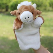 Plush Toys Fur Hand Puppet Baby Story Telling - Educational Aid - (Cow)
