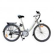 EcoMobile Bicicleta Electrica Aluminio Rodada 700 EcoMobile City Mover Plata 36v 250w