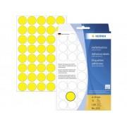 Herma 2251 Etiketter Ø 19 mm Papper Gul 1280 st Permanent Markeringsetiketter