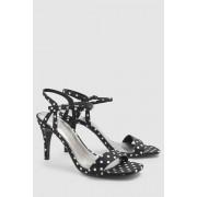 Womens Next Delicate Sandals - Black/White Spot