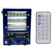 Speaker with FM USB AUX SD Card With 18 SMD Led Light powerful battery chargeable Bass Rechargeable Battery