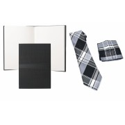 Blue Business Set Agenda Hugo Boss si Cravata cu batista