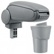 Подлакътник [pro.tec]® Nissan Micra K13 с контейнер за съхранение Изкуствена кожа/Сив
