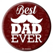 Be Awara Best Dad Ever Badge | Round Badge for Father, Fathers Day Gifts for dad