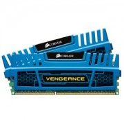 Memorie Corsair Vengeance Blue 16GB (2x8GB) DDR3, 1600MHz, PC3-12800, CL10, Dual Channel Kit, CMZ16GX3M2A1600C10B