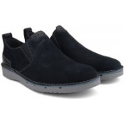 Clarks Capler Step Navy Suede Casuals For Men(Black)