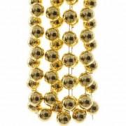Merkloos Sweet Christmas kerstversiering sterren grove kralen ketting goud 270 cm