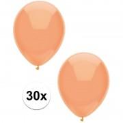 Merkloos 30x Perzik oranje metallic ballonnen 30 cm